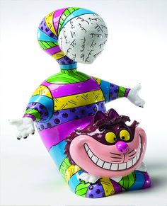 Romero Britto Chesire Cat...I'm in love with this!!!