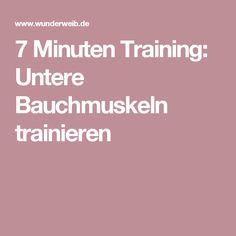7 Minuten Training: Untere Bauchmuskeln trainieren