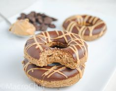 | Chocolate Peanut Butter Protein Donuts | http://www.macro-chef.com