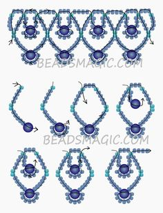 Free pattern for necklace Blue Sky | Beads Magic
