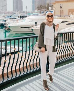 Ideas For Fashion Style Summer Casual Ootd Hijab Fashion Summer, Street Hijab Fashion, Muslim Fashion, Modest Fashion, Fashion Outfits, Modest Clothing, Women's Fashion, Modest Dresses, Modest Outfits