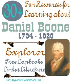 Daniel Boone - North American Explorer. Free Lapbook, crafts and activities to learn about Daniel Boone.