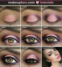 Maquillaje tonos rosados