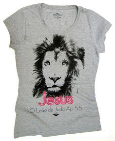 FH313 Blusa FDH - Jesus, O Leão de Judá.