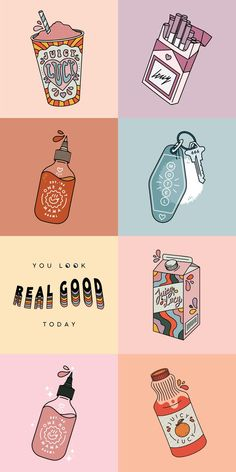 I really enjoy the color scheme with pastels and the illustration style Illustration Inspiration, Graphic Design Illustration, Graphic Design Inspiration, Tea Illustration, Design Ideas, Digital Illustration, Illustration Styles, Kawaii Wallpaper, Cartoon Wallpaper