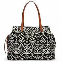 Graphic tote // love the tribal pattern