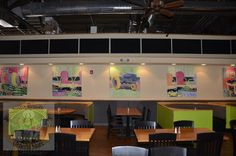 Five paintings in pastels by Ricky Lindley of Siler City at the Pittsboro Roadhouse