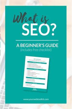 SEO basics for bloggers and entrepreneurs. Includes an SEO checklist.