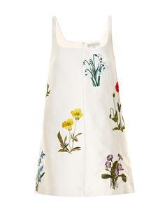 Marianne botanical-embroidered duchess-satin dress | Stella McCartney | MATCHESFASHION.COM US