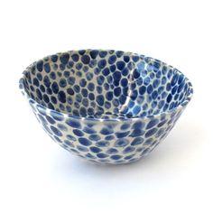 Wink's Blue + White Dot Bowls