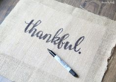 How to Make Perfect Letters on Burlap via House by Hoff5