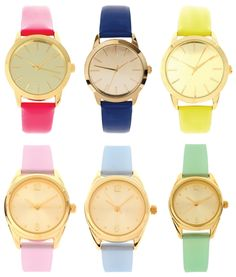 awesome bright/pastel watches .. <3