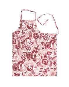Designed by Matti Pikkujämsä Material: linen & cotton Size: x 2 big pockets in the front Red Apron, Potpourri, Kitchen, Cotton, Design, Cooking, Kitchens, Cuisine, Cucina