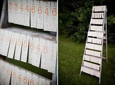 #rustic #ladder for displaying #escort #cards