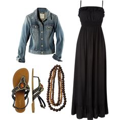 """""""black maxi dress"""" by kendraboddy94 on Polyvore"""