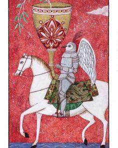 The Knight of Cups Card pigment print on hot press 100% rag fine art paper 20 x 12 (on 26 x 18 paper) edition of 50 #tarot #messenger #invitation