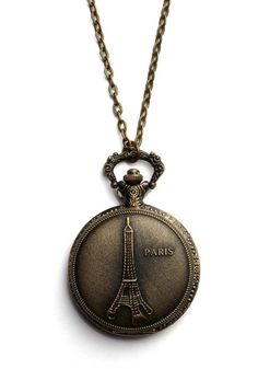 Turn Back Time Necklace in Eiffel