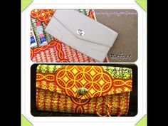 DIY: How To Cover A Clutch Bag With African Ankara Farbic - YouTube