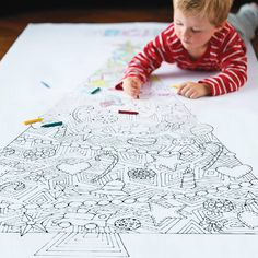 Could be a fun family project next year...     Personalised Colour In Christmas Tree Poster