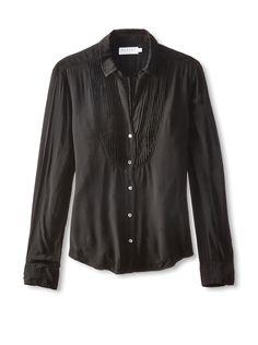 Velvet by Graham & Spencer Women's Pintuck Tuxedo Shirt at MYHABIT