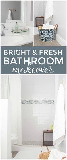 Bright and Fresh Master Bathroom Makeover @flooranddecor #ad