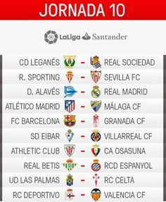 برنامج لقاءات الجولة العاشرة من الدوري الإسباني لكرة القدم...
