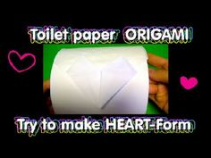 【EASY!】 Toilet Paper ORIGAMI ハート♥HEART