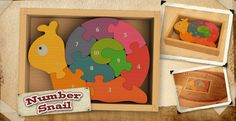 Win a Number Snail wooden puzzle from BeginAgain Toys -- Enter here: http://www.inspiredbysavannah.com/2013/04/savannah-is-loving-her-number-snail.html -- Ends 5/1.