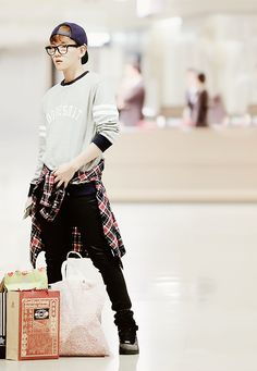 Baekhyun looking fashionable and lost