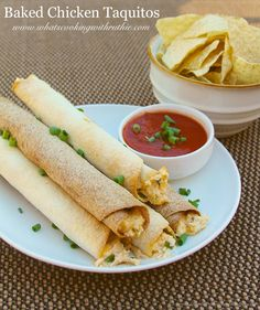 baked chicken taquitos baked chicken taquitos are a quick and easy ...