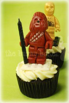 Edible LEGO Star Wars Cupcakes - Chewbacca