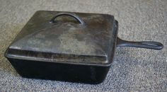 vintage cast iron wagner | Antique Wagner Ware 1400 Chicken Fryer Cast ... | Grilling and outdoo ...