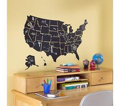United States Chalkboard Wall DEcal