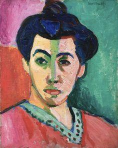 """Estórias da História: Análise da obra: """"Retrato de Madame Matisse"""" ou """"A..."""