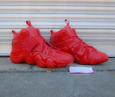 wholesale dealer ad0ce 56e47 adidas Crazy 8 Red Python Customs for Jimmy Butler by JP Custom Kicks