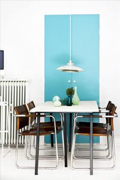 paint a block of color on the wall to frame an area