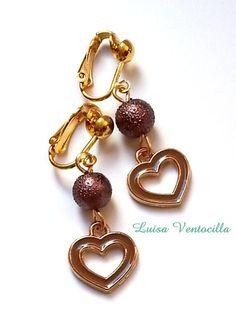 Herzen Ohrclips von Luisa Ventocilla Shop auf DaWanda.com