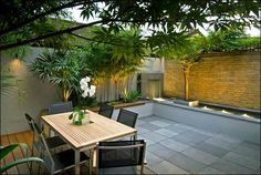 outdoor spaces do not have to large this small courtyard space is a lush peaceful retreat for outdoor dining and relaxing - Garden Ideas Large Space