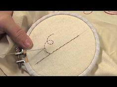 Les petites leçons de Marie Suarez - Le point avant surjeté en broderie - Edisaxe -- pleins de tutos vidéos sur les divers points de broderie