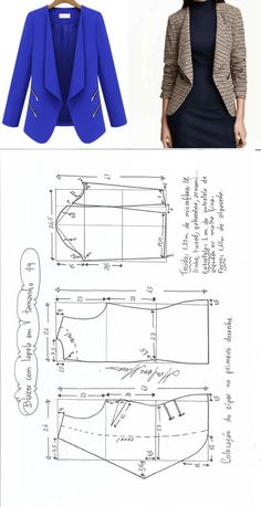 Studio of design clothes: sewing, cut, vyazaniyebleyzer.\u000aThe sizes 36-56 in the PDF file