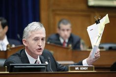 Representative Trey Gowdy (R-SC) speaks during a House Oversight and Government Reform Committee session at Capitol Hill in Washington June 20, 2012. The House Oversight and Government Operations Committee is considering to go ahead with plans to vote on