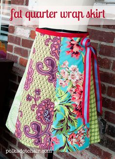 Fat-quarter-wrap-skirt-pattern (girl's size) but instructions for making in adult sizes are at the end of the post