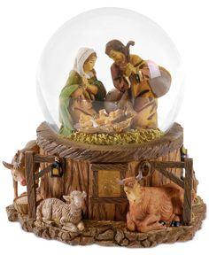 Roman Fontanini Nativity Lighted Snow Globe