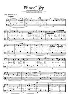 beatles sheet music free | Eleanor Rigby - The Beatles | FREE Sheet Music