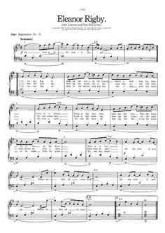 beatles sheet music free | Eleanor Rigby - The Beatles | FREE Sheet Music