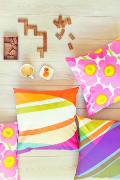 Marimekko, Just Girly Things, Home Collections, Scandinavian Style, Color Combos, Color Inspiration, Decorating Your Home, Pillow Covers, House Design