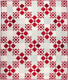 Scrappy Nines quilt by Pat Wys of Silver Thimble Quilt Company - September 2014 interview by Pat Sloan Bright Quilts, Two Color Quilts, Blue Quilts, Small Quilts, Quilting Projects, Quilting Designs, Patchwork Quilting, Scrappy Quilts, Mini Quilts
