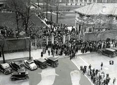 A crowd gathers on Temple Square during the LDS Church's General Conference on April 5, 1935. From the archives of The Salt Lake Tribune