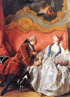 Declaration of Love, 1724  Very Early Rococo  Notice the larger cuffs on the frock coat.  This is a carry-over from the late baroque frock coat of Louis XIV.