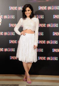 Vanessa Hudgens at the Spring Breakers photocall in Madrid. #spring #style